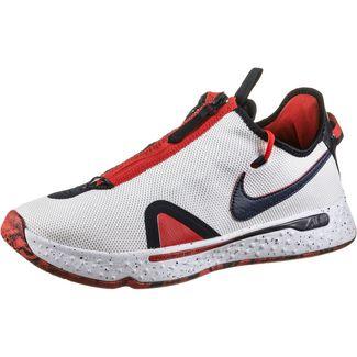 Nike PG 4 Basketballschuhe Herren white-obsidian-university red