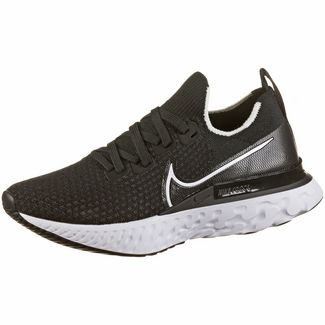Nike REACT INFINITY RUN FK Laufschuhe Damen black-white-dk grey
