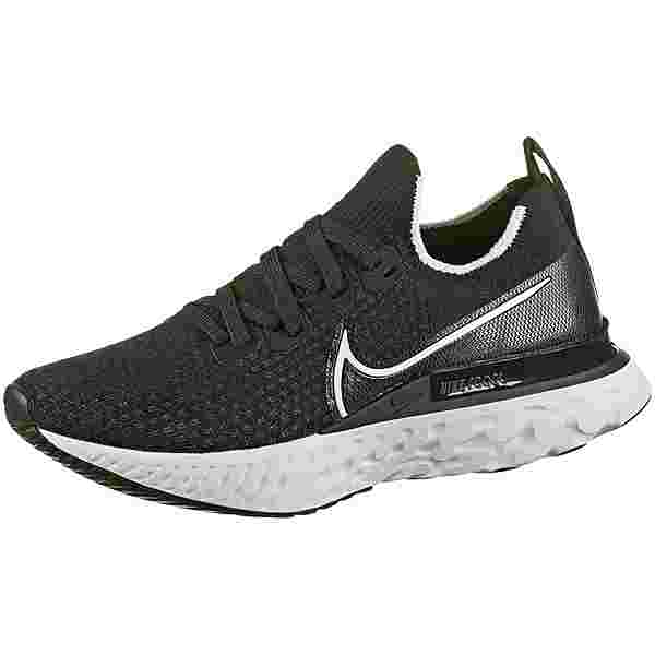Nike REACT INFINITY RUN FK Laufschuhe Damen black-white-dk grey