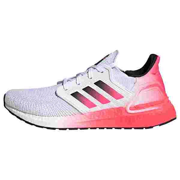 adidas Ultraboost 20 Laufschuh Laufschuhe Herren Cloud White / Core Black / Signal Pink / Coral