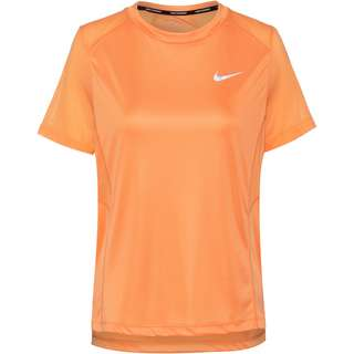 Nike Dri-FIT Miler Funktionsshirt Damen fuel orange-reflective silv