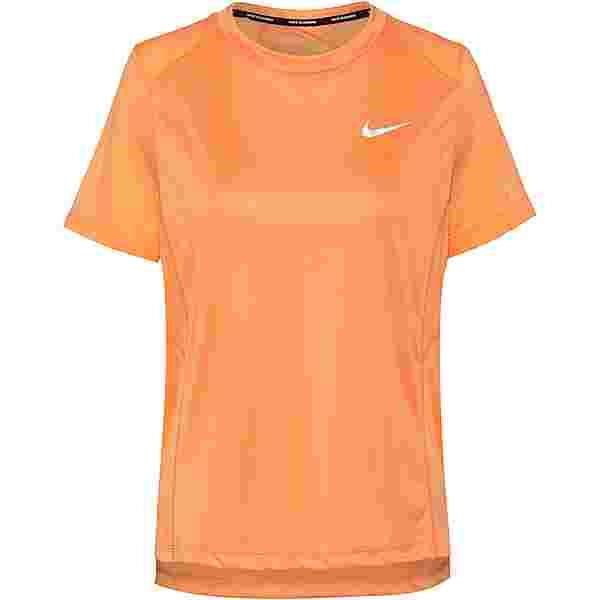 Nike Dri-FIT Miler Funktionsshirt Damen fuel orange-reflective silv