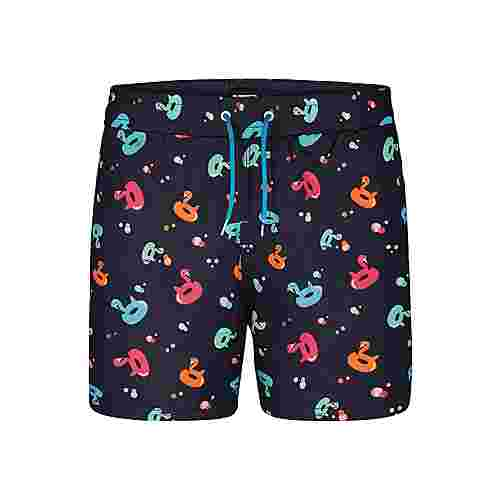 HAPPY SHORTS Badeshorts Motive Badeshorts Herren Flamingo