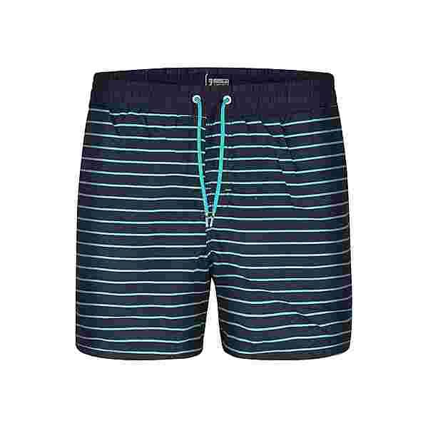 HAPPY SHORTS Badeshorts Simple Badeshorts Herren Blue Stripes