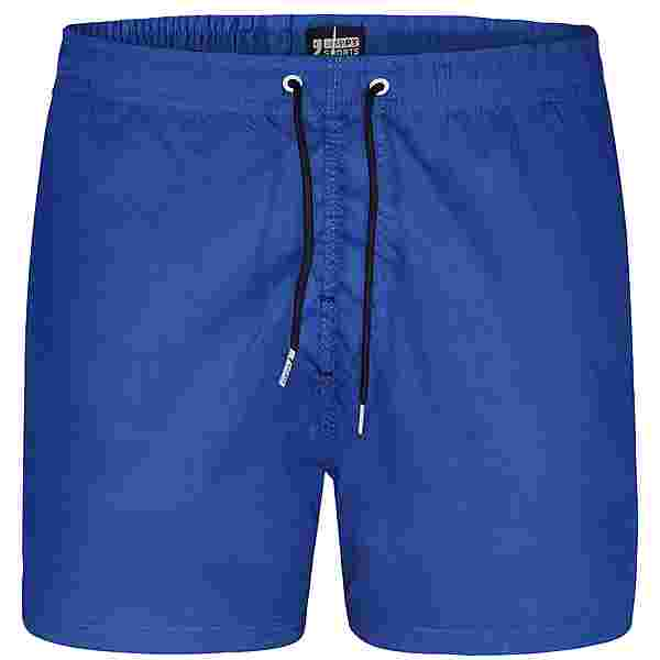 HAPPY SHORTS Badeshorts Simple Badeshorts Herren Mid Blue