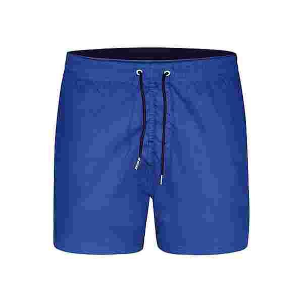 HAPPY SHORTS Badeshorts Elastic Waistband Badeshorts Herren Solid Mid Blue