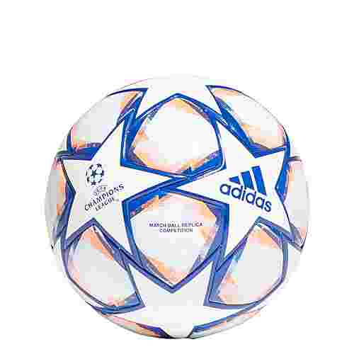 adidas UCL Finale 20 Competition Ball Fußball Herren White / Royal Blue / Signal Coral / Sky Tint