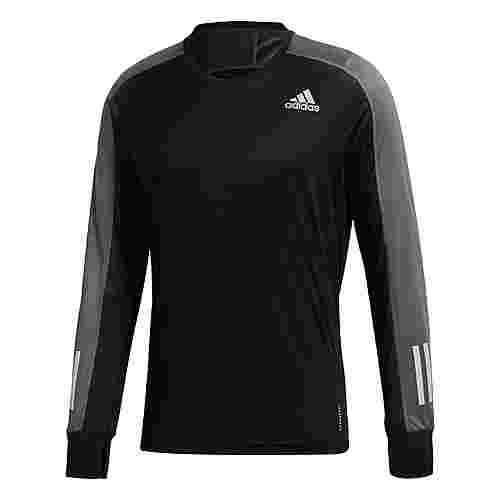 adidas Own the Run Longsleeve Funktionsshirt Herren Black / Grey Six