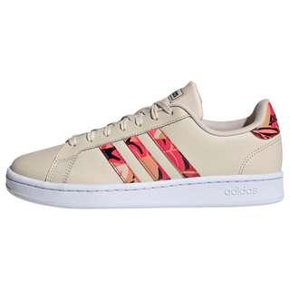 adidas Grand Court Schuh Sneaker Damen Linen / Signal Pink / Cloud White
