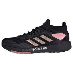 adidas Pulseboost HD Schuh Laufschuhe Damen Core Black / Copper Metallic / Glow Pink