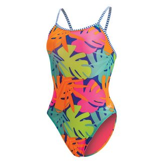 Dolfin Uglies Double Strap Back Schwimmanzug Damen Tropic Time