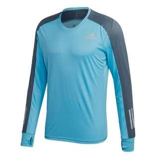 adidas Own the Run Longsleeve Funktionsshirt Herren Signal Cyan / Legacy Blue