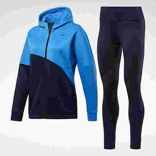 Reebok Track Suit Trainingsanzug Damen Blau