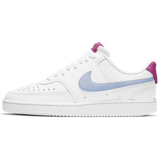 Nike Court Vision Sneaker Damen white-hydrogen blue-fire pink