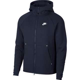 Nike Tech Fleece Kapuzenjacke Herren obsidian-white