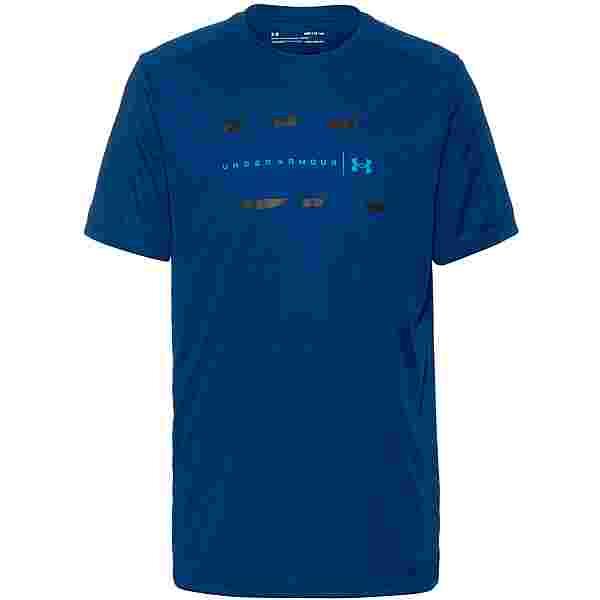Under Armour Speed Stride Funktionsshirt Herren graphite blue-black-reflective
