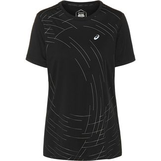 ASICS NIGHT TRACK Funktionsshirt Damen performance black