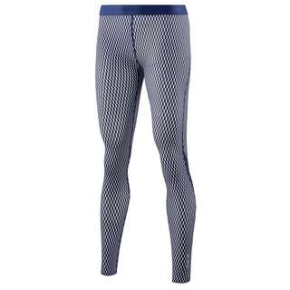 Skins DNAmic Long Tights Tights Damen Textured Square Navy/White