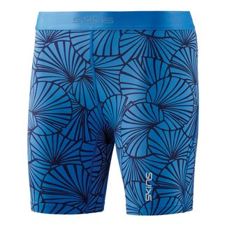 Skins DNAmic Shorts Tights Damen Graphic Sunfeather Blue