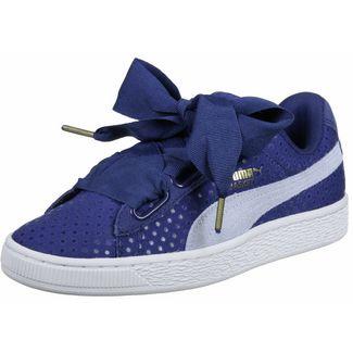 PUMA Basket Heart Denim W Sneaker Damen blau