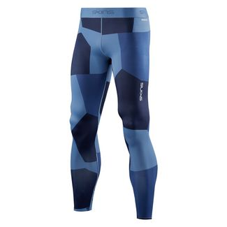 Skins DNAmic Primary Long Tights Tights Herren Deconstructed Camo Navy