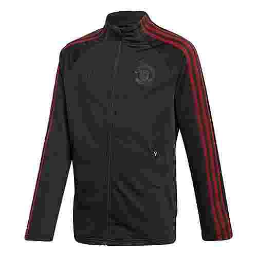adidas Manchester United Anthem Jacke Funktionsjacke Kinder Black / Real Red