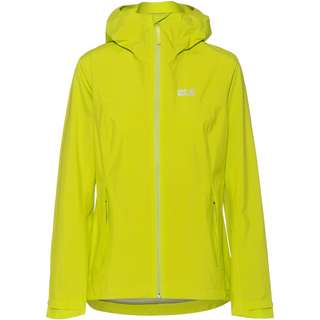 Jack Wolfskin Pack and Go JWP Hardshelljacke Damen bright lime