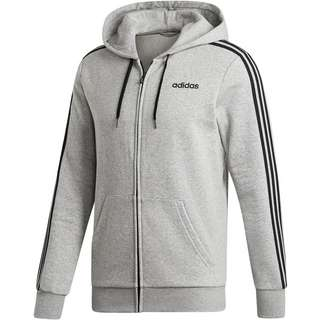 adidas 3 Stripes Sweatjacke Herren medium grey heather-black