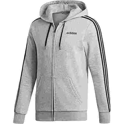 adidas 3 Stripes Sweatjacke Herren medium grey heather-black