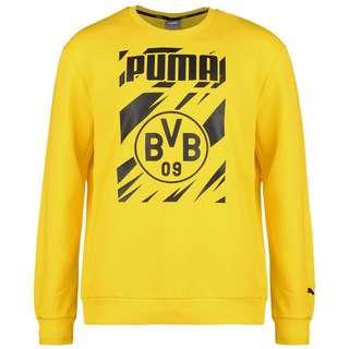 PUMA Borussia Dortmund ftblCore Graphic Crew Funktionssweatshirt Herren gelb / schwarz
