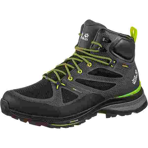 Jack Wolfskin FORCE STRIKER TEXAPORE MID Wanderschuhe Herren dark grey-lime