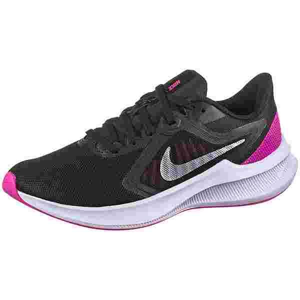 Nike DOWNSHIFTER 10 Laufschuhe Damen black-mtlc silver-fire pink