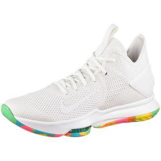 Nike LEBRON WITNESS IV Basketballschuhe Herren summit white-summit white-opti yellow