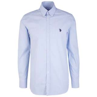 U.S. Polo Assn. Herren Hemd Langarmhemd Herren blue stripes