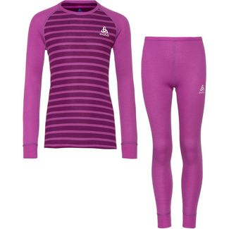 Odlo Active Warm Eco Wäscheset Kinder hyacinth-charisma-stripes