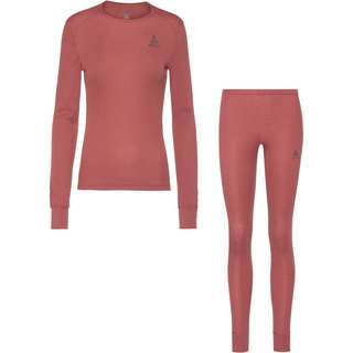 Odlo ACTIVE WARM ECO Wäscheset Damen roan rouge