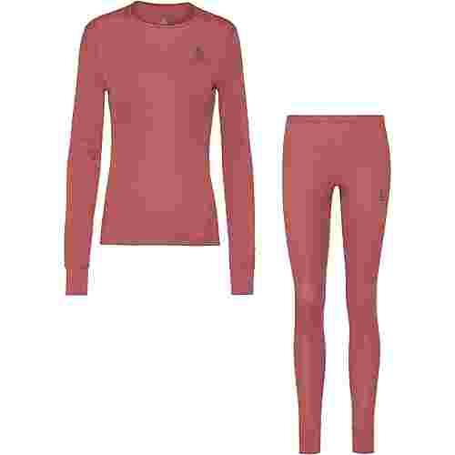 Odlo ACTIVE WARM ECO Wäscheset Damen roan rouge