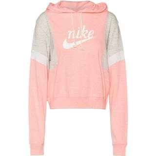 Nike NSW Varsity Hoodie Damen bleached coral-grey heather-sail