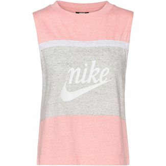 Nike NSW Varsity Tanktop Damen bleached coral-grey heather-sail