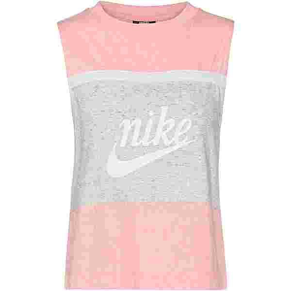 Nike NSW Varsity Tanktop Damen bleached coral-grey heather-sail