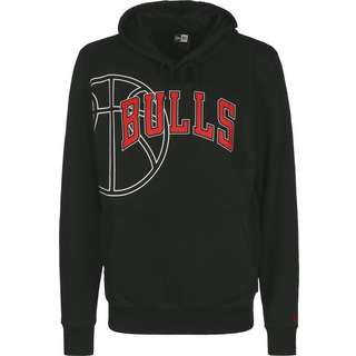 New Era NBA Graphic Basketball Chicago Bulls Hoodie Herren schwarz