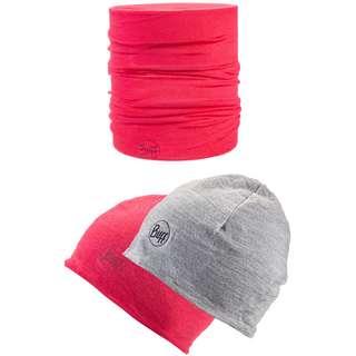 BUFF Merino LW MERINO Set Mütze und Schal Kinder pink