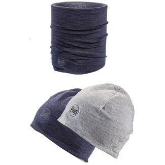 BUFF Merino Set Mütze und Schal Kinder denim