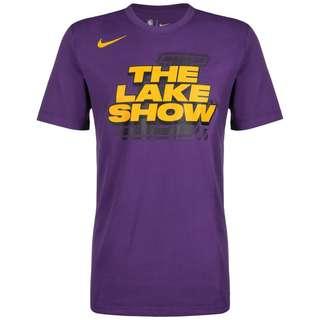Nike Los Angeles Lakers Dri-FIT Fanshirt Herren lila / gelb