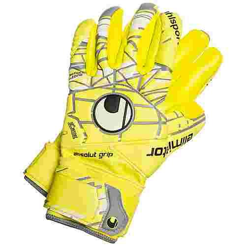 Uhlsport Eliminator Absolutgrip Finger Surround Torwarthandschuhe Herren gelb / grau / weiß