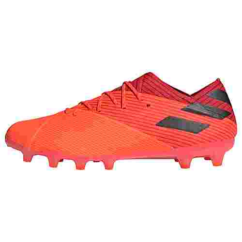 adidas Nemeziz 19.1 AG Fußballschuh Fußballschuhe Herren Signal Coral / Core Black / Glory Red
