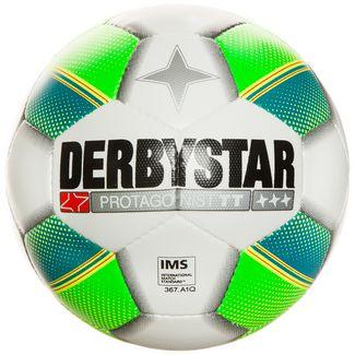 Derbystar Protagonist S-Light Fußball weiß / grün / gelb