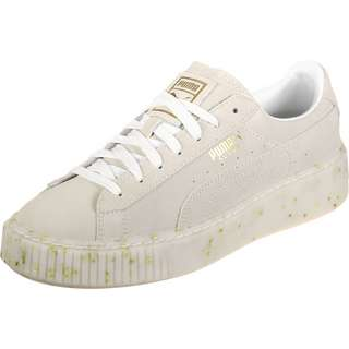 PUMA Suede Platform Celebrate W Sneaker Damen beige/gold