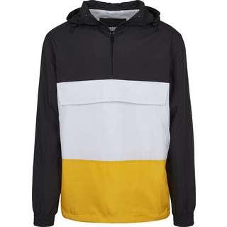 Urban Classics Color Block Pullover Windbreaker Herren schwarz/weiß/gelb