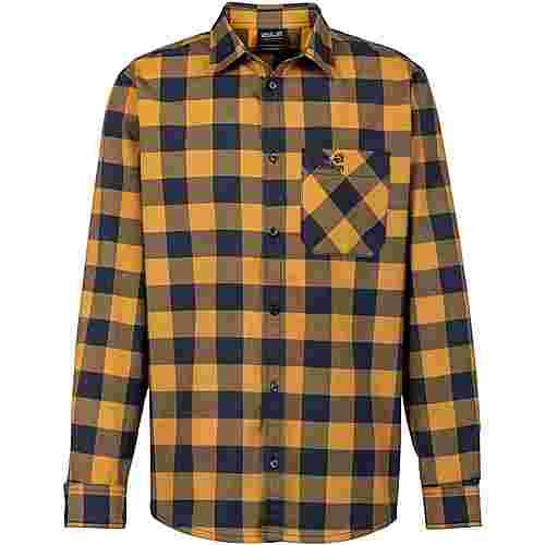 Jack Wolfskin RED RIVER Langarmhemd Herren golden amber checks